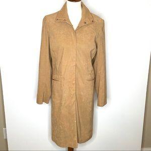 New Look Tan Lightweight Snap Front Duster Coat 10